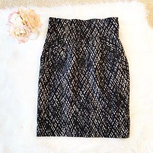 Saks Fifth Avenue black high waist pencil skirt 6